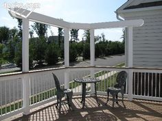 nice idea for top level of deck to provide a little shade/privacy