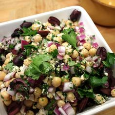 Chickpea Salad with Feta, a recipe from the ATCO Blue Flame Kitchen.