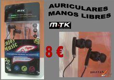 Digit@L Chip - Informática - Sonido: MTK  AURICULARES MANOS LIBRES