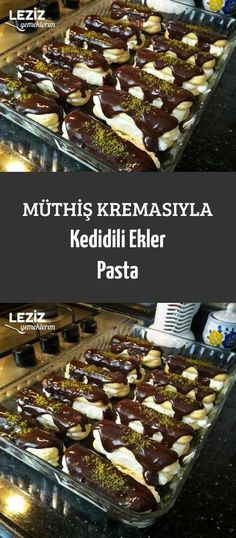 Müthiş Kremasıyla Kedidili Ekler Pasta Cat Flavored Pastry with Awesome Cream Pasta Recipes, Cake Recipes, Snack Recipes, Dessert Recipes, Snacks, Easy Eat, Turkish Recipes, Cream Cake, Cream Cream
