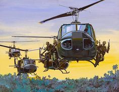Military Helicopter, Military Aircraft, Bell Helicopter, Military Art, Military History, Piskel Art, Military Drawings, Vietnam War Photos, Nose Art