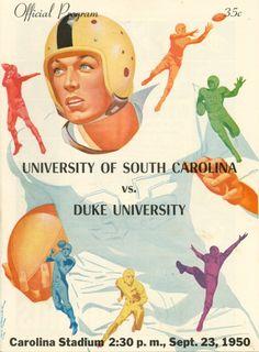 University of South Carolina vs. Duke University official program (1950)
