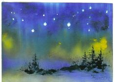 STARRY NIGHT 5x7 celestial print  Jim Smeltz by jimsmeltzgallery