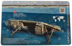 Hilma Hooker, Bonaire, Dutch Caribbean Waterproof 3D Wreck Dive Site Map