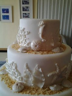 Beach Theme Wedding Cake Made For My Nephew