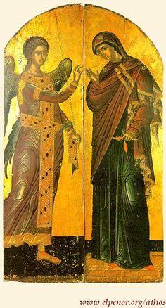 Ευαγγελισμός της Υπεραγίας Θεοτόκου - Bημόθυρα - 1546 μ.Χ. - Mονή Σταυρονικήτα, Άγιον Όρος (Κρητική σχολή, Θεοφάνης ο Kρής)