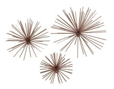 Set of 3 Copper Finish Bursting Metal Star Wall Hangings * Learn more by visiting the image link. (This is an affiliate link and I receive a commission for the sales)