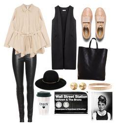 """Street style"" by mercantichiara on Polyvore featuring moda, The Row, Non, Acne Studios, CÉLINE, Lanvin, Eddie Borgo, Chanel, Oliver Gal Artist Co. e women's clothing"