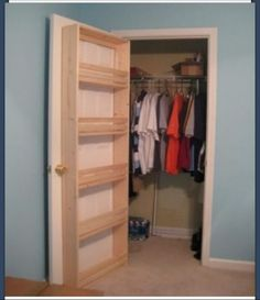 Good idea for extra storage space in a closet