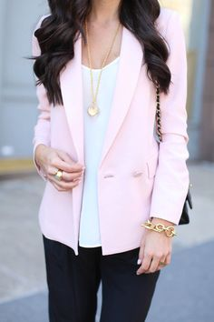Think Pink - Rebecca Taylor blazer // Otte blouse // Nili Lotan pants Stuart Weitzman pumps // Celine sunglasses // Chanel purse Thursday, April 24, 2014