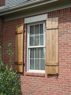 Cedar Board and Batten Shutters This is what I want for my house! Love that cottage look! ;):