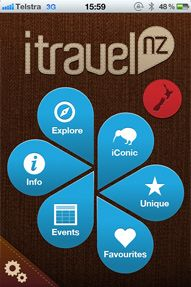 The Pin Of Our Old Menu Screen New Zealand Travel Guide App