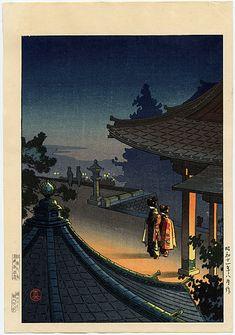 "Koitsu, Tsuchiya (1870-1949), ""Evening at Mii Temple"""