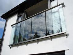 glass juliet balcony frameless french door - Google Search