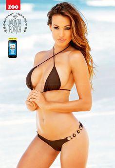 World actress stills: Jacinta Rokich hot exposing stills at Zoo Weekly (Australia) (Jan. Bikini Babes, Sexy Bikini, Thong Bikini, Zoo Magazine, Swimsuits, Bikinis, Swimwear, Trending Today, Most Beautiful Women