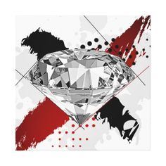 Trash Polka Sparkly Blingy Diamond Canvas Print trash polka, trash, polka, dot, dots, polka dots, diamond, diamonds, bling, blingy, jewel, jewels, sparkle, sparkly
