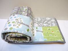 Quilts Baby Boy Quilt Backyard Baby Quilt by NowandThenQuilts, $159.00