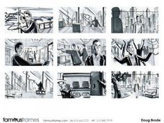 FamousFrames Storyboards, Animatic Artists, Storyboard Artists, Doug Brode