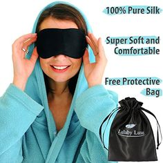 Lullaby Luxe - Luxuriously Soft, Anti-Aging, Pure and Natural Silk Eye Mask. Our Best Sleep Mask is and Handmade. Sleep and Rest in Pure Luxury. Suitable for Women, Men and Kids. Best Sleep Mask, Silk Eye Mask, Amazon Clothes, Black Silk, Cool Eyes, Beautiful Eyes, Pure Products, Luxury, Handmade