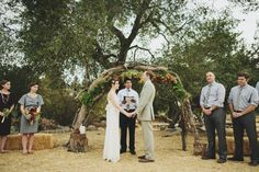Rustic ceremony wedding decor | photo by Matthew Morgan | 100 Layer Cake