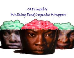 20 Walking Dead Cupcake Wrappers- Printable-Instant Download- The walking dead party cupcake decorations