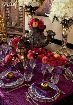 Moroccan Themed reception table decoration | Weddings Romantique
