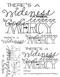 Theres A Wideness In Gods Mercy