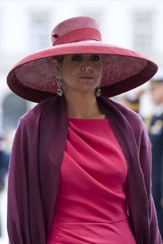 Queen Maxima of The Netherlands visits the Tomb of the Unknown Soldier during their trip to Poland, 24.06.2014 in Warsaw, Poland.