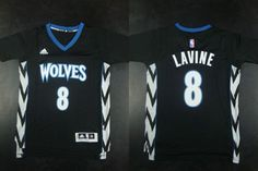 "$23.88 at ""MaryJersey""(maryjerseyelway@gmail.com) Timberwolves 8 Zach LaVine Black Alternate Stitched NBA Jersey"