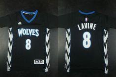 d0f2ccdd82c4 Minnesota Timberwolves Zach LaVine Revolution 30 Swingman 2014 New Black  Jersey