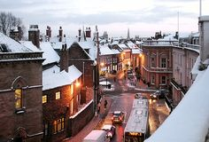 Snowy Night, York, England