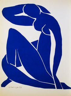 Henri Matisse, Blue Nude II, 1952, gouache découpée, Pompidou Centre, Paris