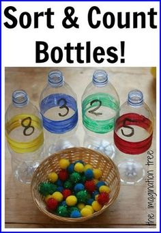 These math activities with pom poms are perfect for young kids. Great ideas for counting, number and graphing activities that all use pom poms. Numbers Preschool, Math Numbers, Preschool Classroom, Classroom Activities, Learning Activities, Preschool Activities, Kids Learning, Montessori Elementary, Learning Numbers