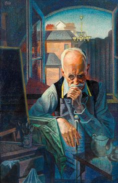 """Portrait of the Artist,"" (Mr. Whiffen), Francis Criss, oil on canvas, 39 7/8 x 25 7/8"", private collection."