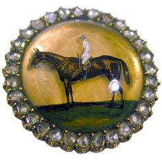 1stdibs | Antique Essex Crystal Horse and Rider Brooch (England, circa 1900)