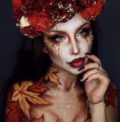 41 Most Jaw-Dropping Halloween Makeup Ideas That Are Still Pretty: Awesome Hallo 41 Die tollsten Halloween Make-up Ideen, die immer noch hübsch sind: Awesome Hallo … – Cool Makeup Looks, Gorgeous Makeup, Pretty Makeup, Awesome Makeup, Unique Halloween Makeup, Halloween Makeup Looks, Halloween Ideas, Pretty Halloween Costumes, Halloween Eyeshadow
