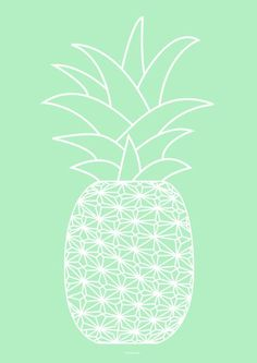 Graphic Pineapple drawing
