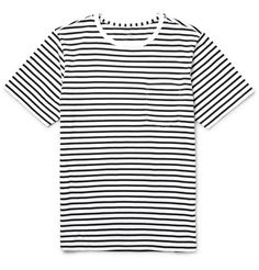 Don't reserve your Breton-striped tees for just the summer - this version from Club Monaco will make a strong contender year round. Cut from soft and breathable cotton-jersey, it has a comfortable fit and is detailed with a perfectly placed chest pocket. Team yours with dark chinos and sneakers.