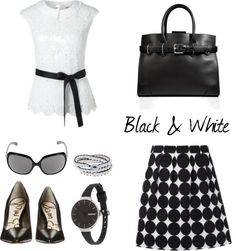 Black & White Outfit Inspiration auf thestyleofmylife.net #thestyleofmylife Black White Fashion, Black And White, White Outfits, My Style, Womens Fashion, Life, Color, Inspiration, Accessories