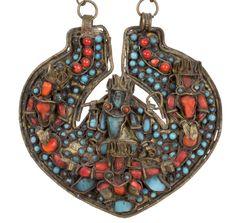 Nepal 20. Jh. Amulett - A Nepalese Amuletic Protection Pendant - Népalaise