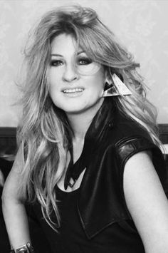 Big 80's earrings. Polish star, singer Beata Kozidrak