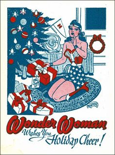 Wonder Woman wishes you a Merry Christmas