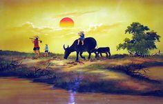 Tranh sơn dầu phong cảnh Việt Nam - www.HỘI HỌA SĨ VIỆT NAM.com