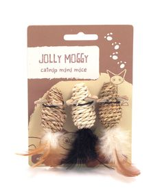JOLLY MOGGY MINI CATNIP MICE. Available from www.nuzzle.co.za