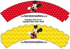 Saias Wrappers para Cupcakes Mickey: