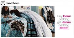Get Jenna bedding free! Buy the Demi bedding set from and get a free Jenna bedding set.