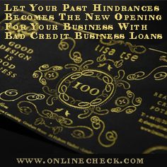 Small Business Loans approval in 1 hour for small businesses with no collateral and easy repayment terms. Get your business the funding it needs with small business loans. http://www.onlinecheck.com