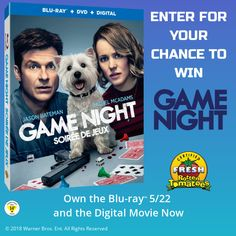Enter for your chance to win GAME NIGHT on Blu-ray.