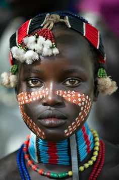 pinterest.com/fra411 #ethnic - Young girl from the Hamer tribe in the south Omo region of Ethiopia