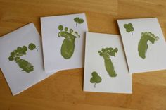 Leprechaun footprints (using your fist to make the print!) could be part of a card craft, treasure hunt, etc. for St. Patrick's Day